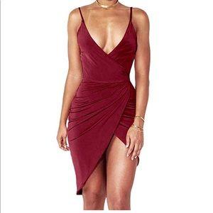 Deep V Sexy Club Dress